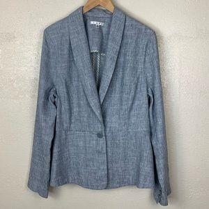 CAbi Beachwalk 215 tweed linen blend blazer jacket